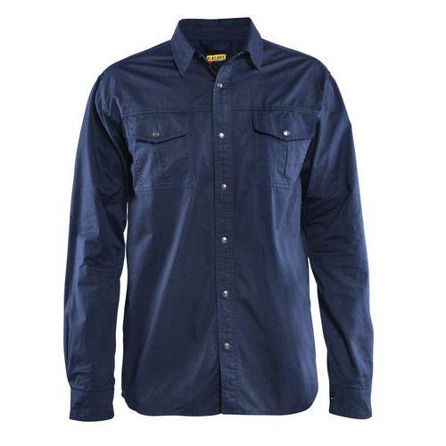 Camicia twill cotone Blu marino