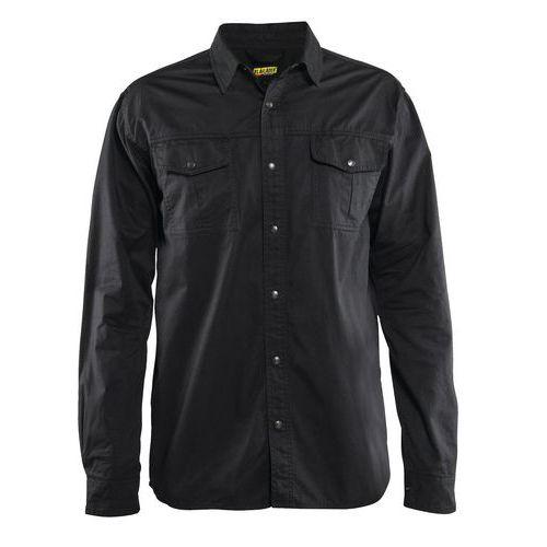 Camicia twill cotone Nero