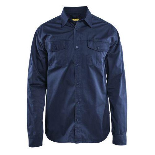 Camicia twill Blu marino