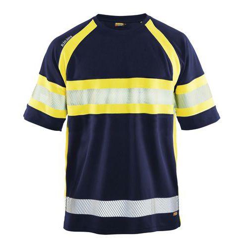 HiVis T-Shirt class 1 Blu marino/Giallo