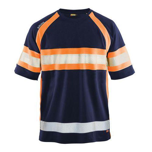 HiVis T-Shirt class 1 Blu marino/arancione
