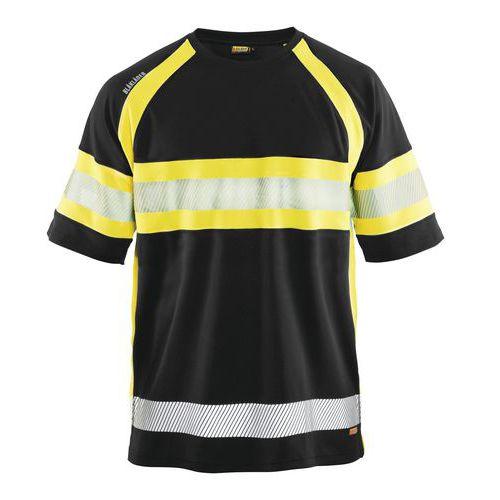 HiVis T-Shirt class 1 Nero/Giallo