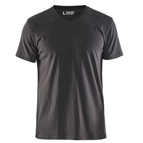 T-Shirt, Scollo a V Grigio Scuro