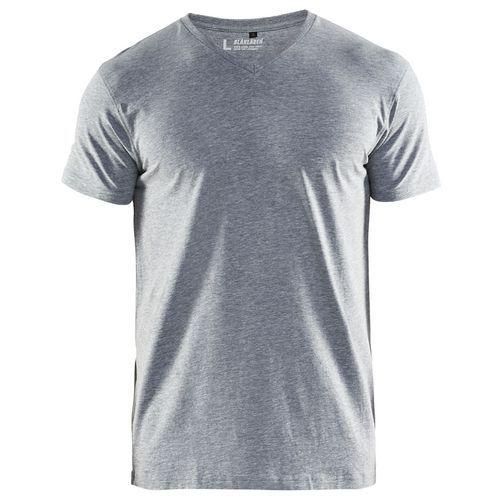 T-Shirt, Scollo a V Grigio