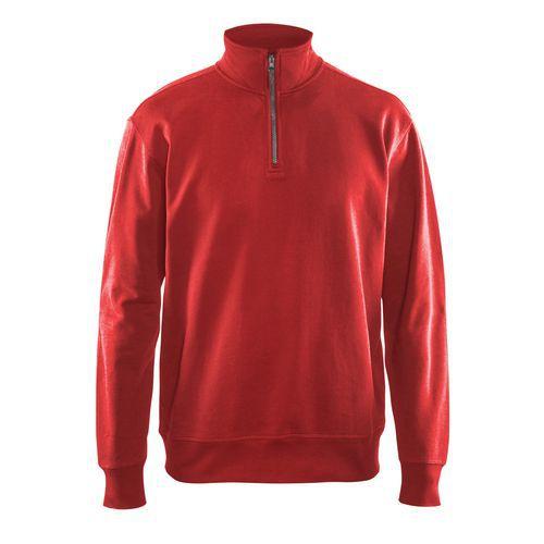 Sweatshirt half zip Rosso