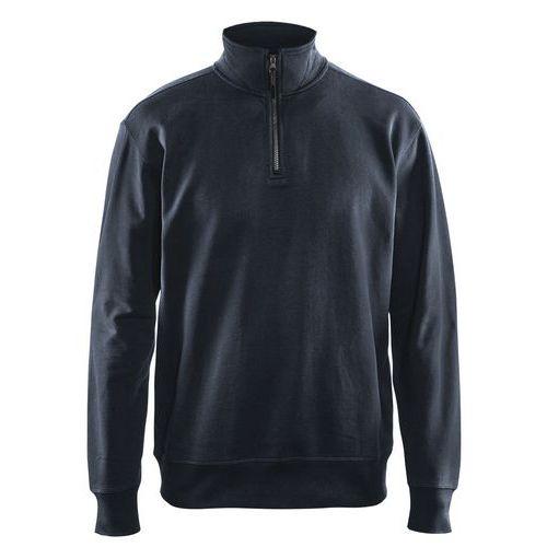 Sweatshirt half zip Blu marino