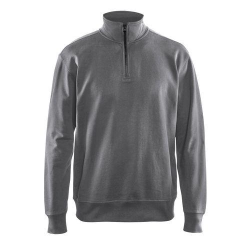 Sweatshirt half zip Grigio