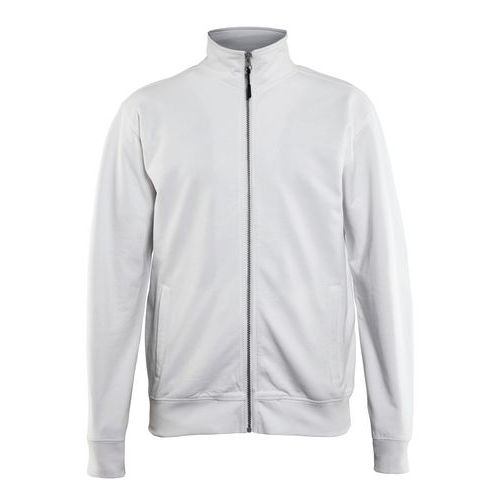 Sweatshirt with Zip Bianco