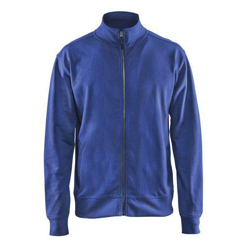 Sweatshirt with Zip Blu fiordaliso