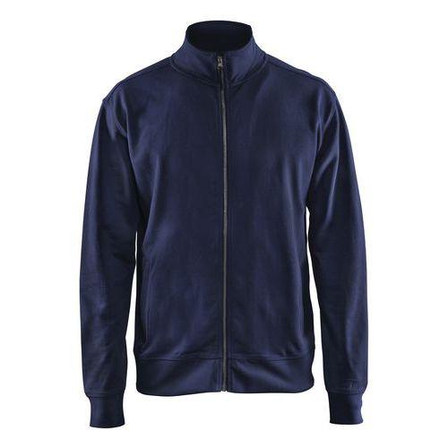 Sweatshirt with Zip Blu marino