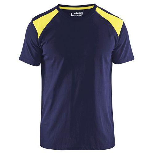 T-shirt  Blu marino/Giallo