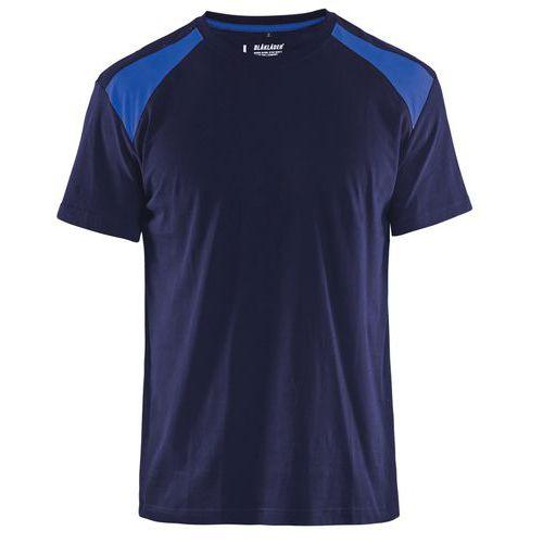 T-shirt  Blu marino/blu fiordaliso