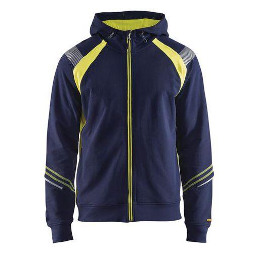Visible Hood Jacket Blu marino/Giallo