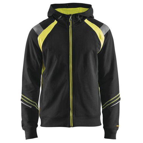 Visible Hood Jacket Nero/Giallo