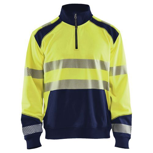 Felpa High vis con mezza zip