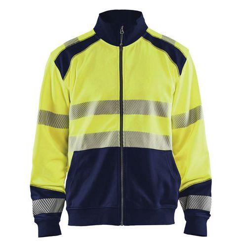 Felpa High vis con zip