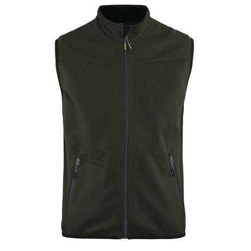 Softshell waistcoat UNITE Verde oliva scuro/nero
