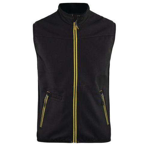Softshell waistcoat UNITE Nero/Giallo