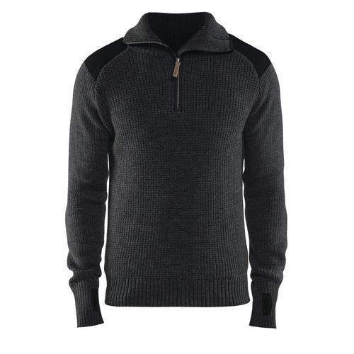Wool Sweater Grigio Scuro/Nero