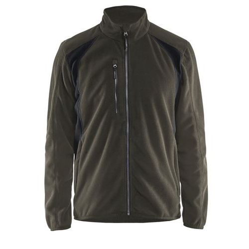 Fleece jacket Verde oliva scuro/nero