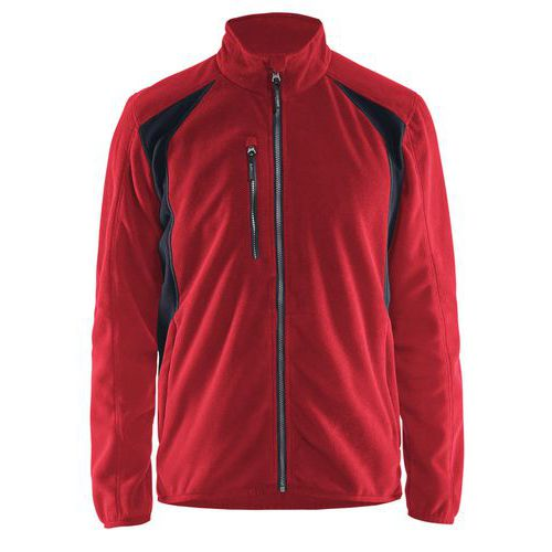 Fleece jacket Rosso/Nero