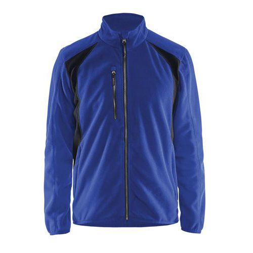 Fleece jacket Blu fiordaliso/Nero