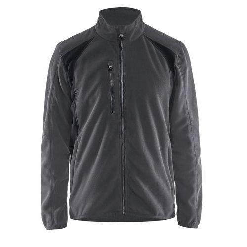Fleece jacket Grigio Scuro/Nero