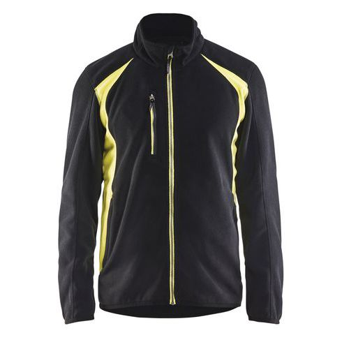 Fleece jacket Nero/Giallo