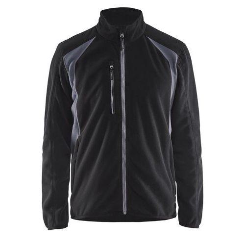 Fleece jacket Nero/Grigio