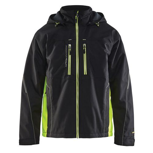 Functional jacket Nero/Giallo