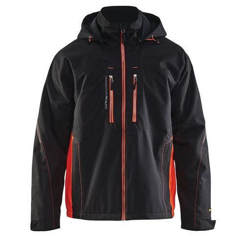 Functional jacket Nero/Rosso