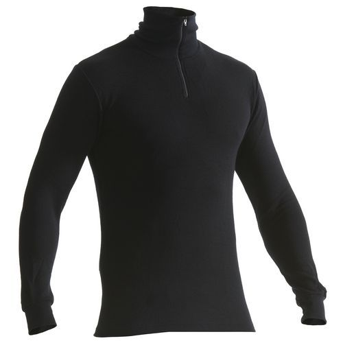 WARM 50% MERINO T-Shirt a Maniche Lunghe Nero
