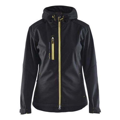Softshell jacket women Nero/Giallo