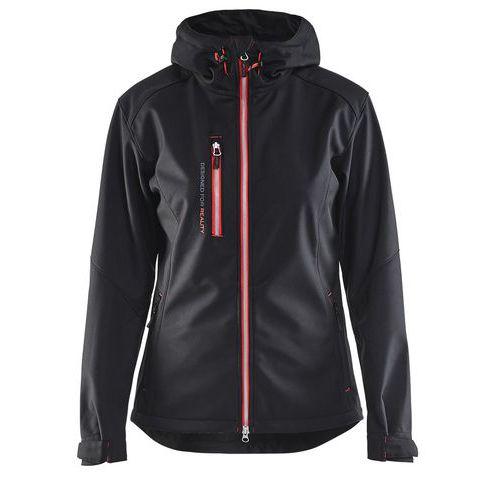 Softshell jacket women Nero/Rosso