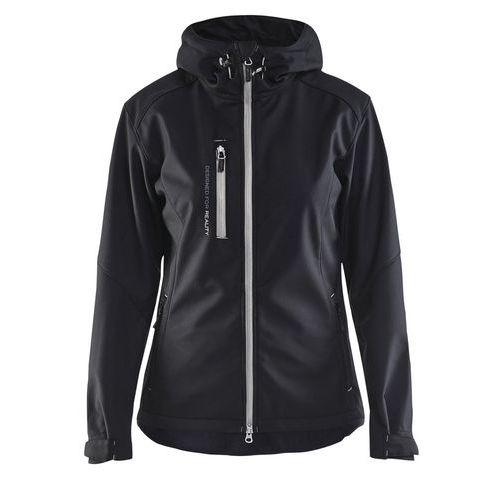Softshell jacket women Nero/Argento