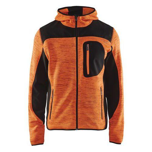 Giacca uomo a maglia Arancione/Nero