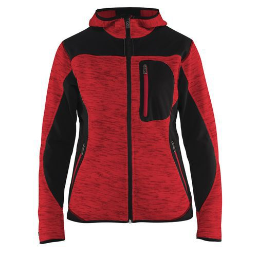 Giacca donna a maglia Rosso/Nero