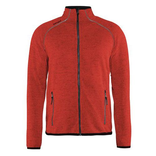 Knitted jacket Rosso/Nero