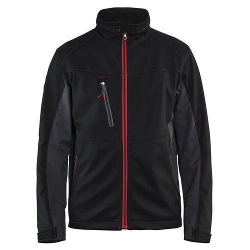 Softshell  Jacket Nero/Rosso