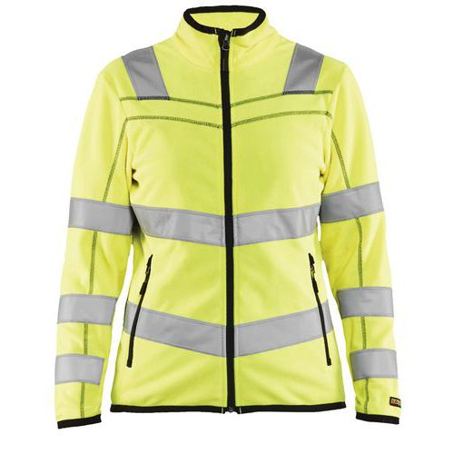 Giacca in micropile donna high vis