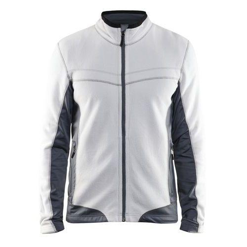Micro fleece jacket Bianco/Grigio