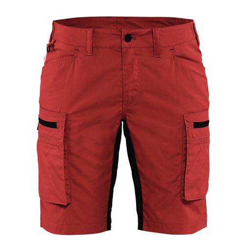 Pantaloni service stretch donna Rosso/Nero