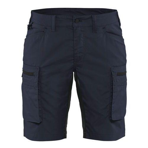 Pantaloni service stretch donna Blu scuro / nero