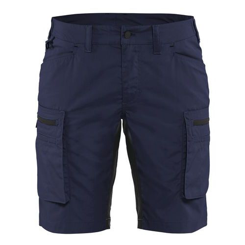 Pantaloni service stretch donna Blu marino/Nero