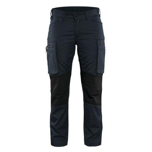 Pantalone di servizio donna con pannelli elasticizzati