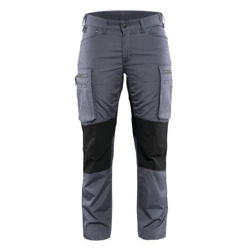 Pantalone di servizio donna con pannelli elasticizzati Grigio / Nero