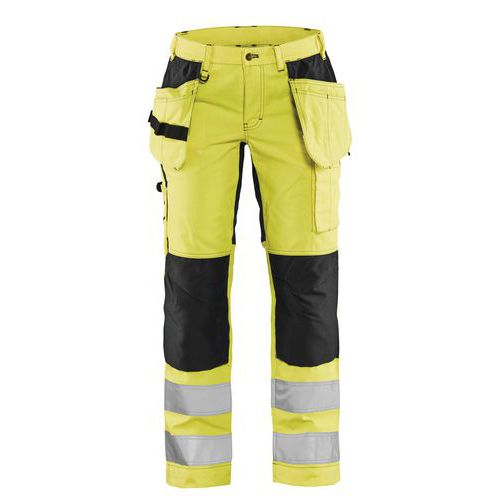 Pantaloni high vis donna con stretch