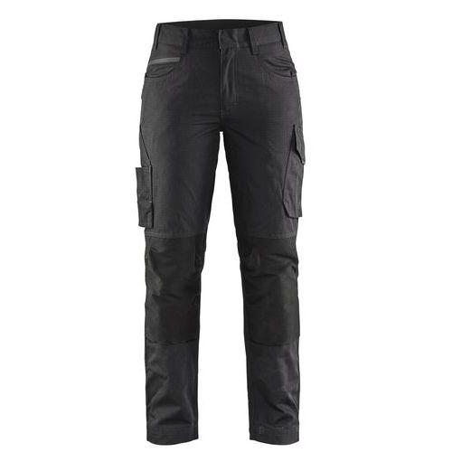 Pantaloni service con stretch donna Nero / Grigio scuro