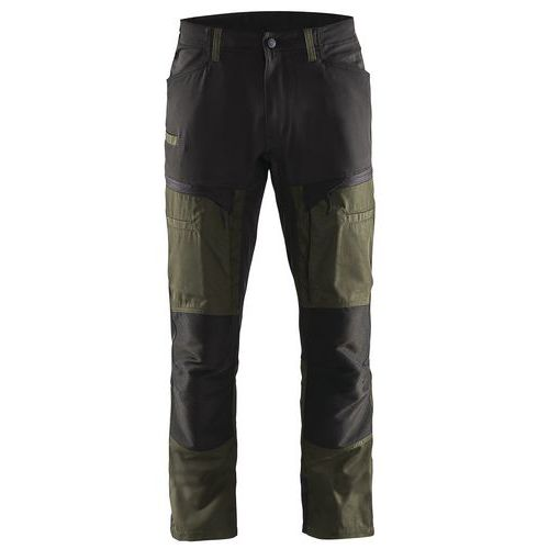 Pantaloni Transport Service con pannelli elasticizzati Verde oliva scuro / nero