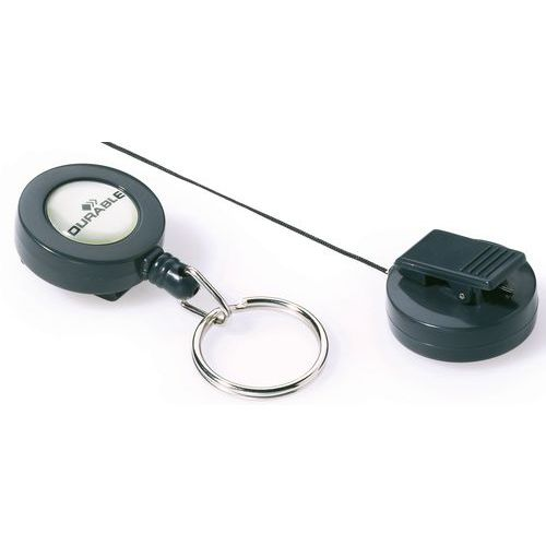 Avvolgitore per badge con anello metallico